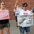 Protest against raids and deportations at MN Republican Party Headquarters.