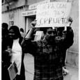 Pancarta en la protesta