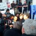 Marissa Alexander speaks to the press