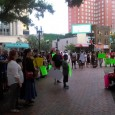 A diverse crowd attended the vigil for Sandra Bland in Jacksonville, FL