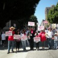 Carlos Montes and other activists in the streets for immigrants rights
