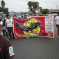 Members of MEChA in the march.