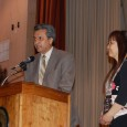 Mayor of East Palo Alto Reuban Abrica presents a proclamation to NOC chairperson