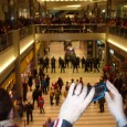 Cops in riot gear at Mall of America protest against racist police killings.
