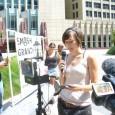 Carrie Feldman speaking in solidarity with West Coast grand jury resistors.