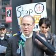 Joe Iosbaker speaks at press conference against grand jury