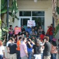 Dreamers gather to protest deportations and demand a right to an education.
