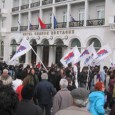 March in Greece past Hotel Grande Bretagne