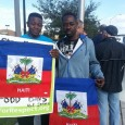 Haitian workers at Walmart protest.