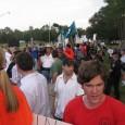 Hundreds march against anti-Islam bigotry in Gainesville, FL.