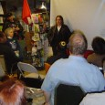 Michelle Sommers, Vice-President of ATU Local 1005, speaking at the Mayday event