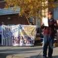 A MIRAc member speaks at the rally