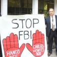 "Jan. 24 protest demands ""Drop the Charges against Carlos Montes."""