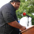 Reverend Barber, president of NC NAACP, addresses the rally.