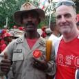 FRSO Organizational Secretary Tom Burke at May Day rally in Venezuela.