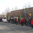 Hundreds protest at St Paul Walmart.