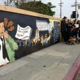 Mural commemorating historic Chicano high school walkouts.