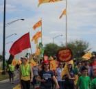 Marchan por los derechos de los trabajadores en el campo
