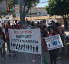 Arizona teachers protest prosecution of  humanitarian activist Scott Warren.