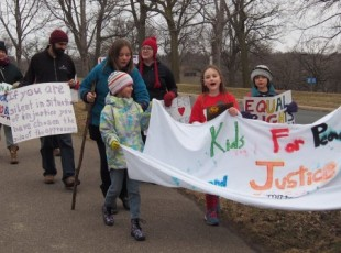 Kids protest Trump